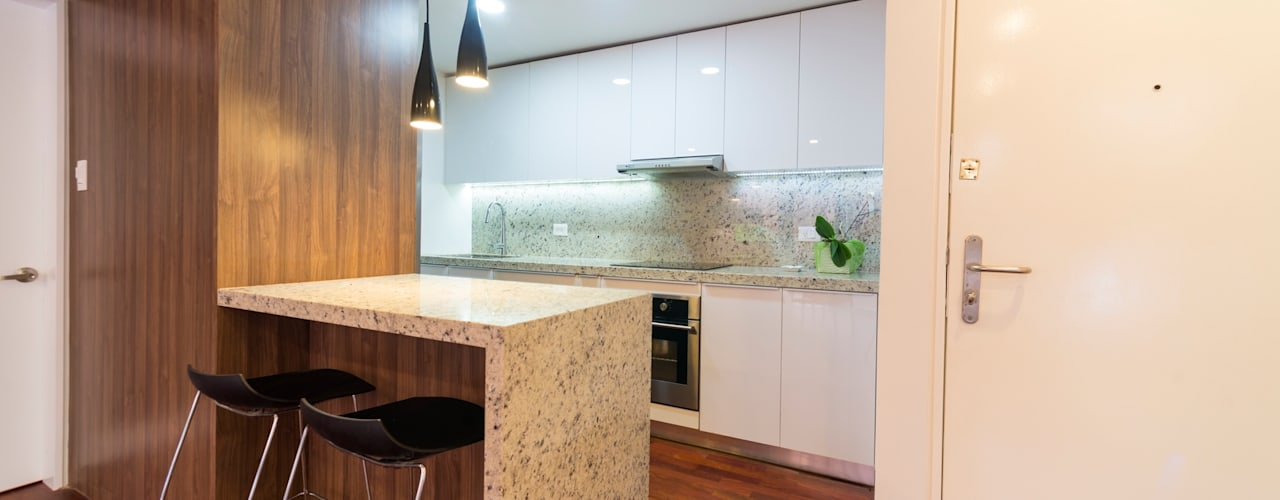 Apartamento 8E: Cocinas de estilo  por Objetos DAC