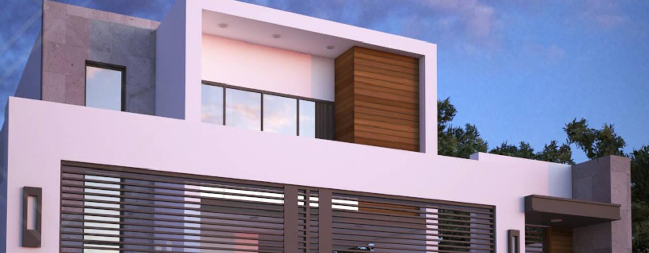Casas de estilo  por CDR CONSTRUCTORA