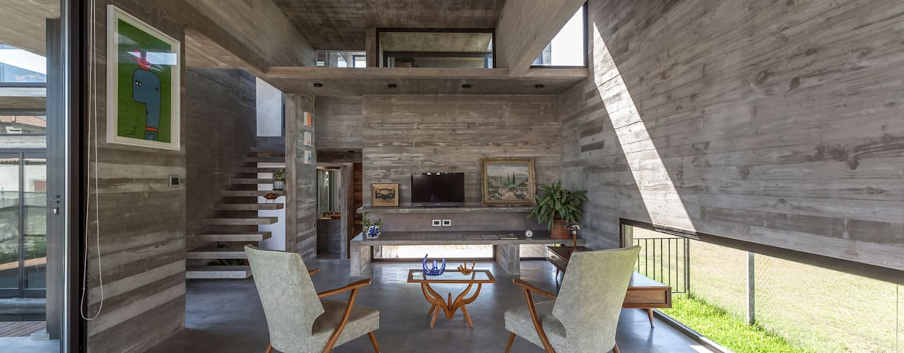 Casa Berazategui Livings modernos: Ideas, imágenes y decoración de Besonías Almeida arquitectos Moderno