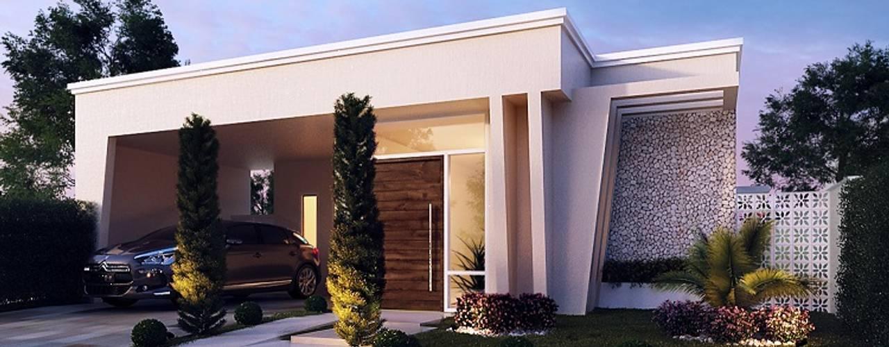Art&Contexto Arquitetura Modern Houses Wood effect