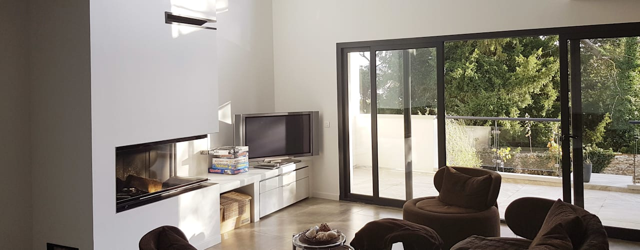 Modern Living Room by Daniel architectes Modern