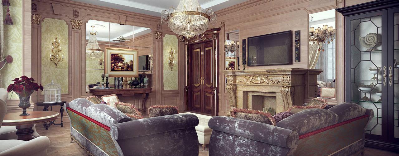Проект дома -интерьеры гостиной: Гостиная в . Автор – Архитектурная мастерская Бориса Коломейченко