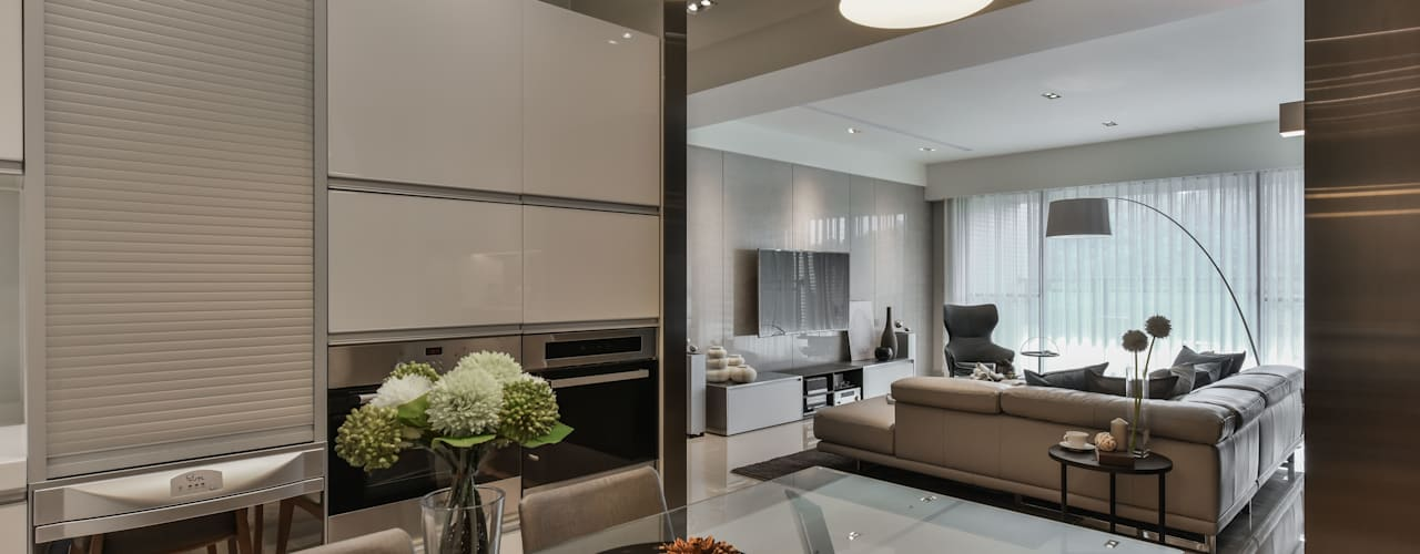 Dining room by CJ INTERIOR 長景國際設計, Modern