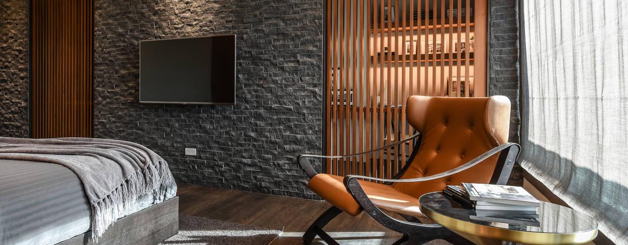 Dormitorios de estilo asiático de CJ INTERIOR 長景國際設計 Asiático