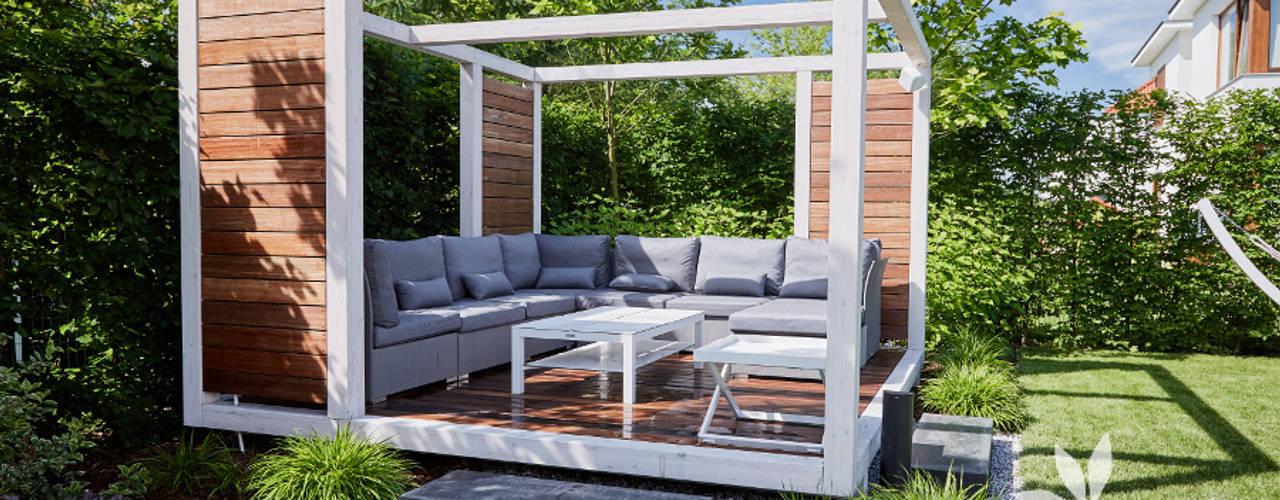 Studio architektury krajobrazu INSPIRACJE Balkon, Beranda & Teras Modern
