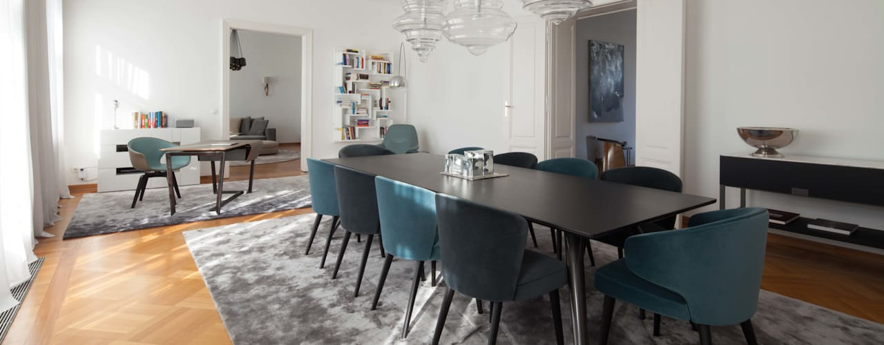 Dining room by destilat Design Studio GmbH