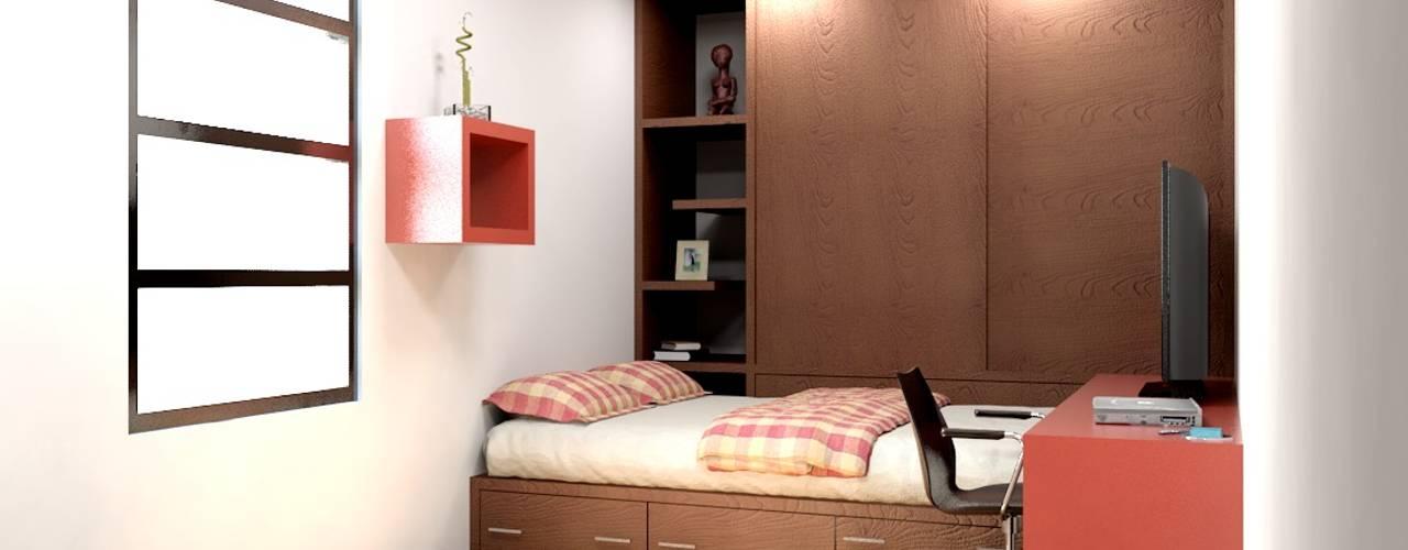 Nowoczesna sypialnia od Arq. Rodrigo Culebro Sánchez Nowoczesny