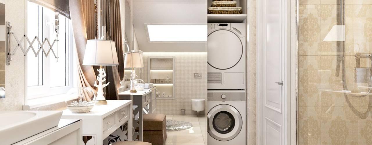 Bathroom by Компания архитекторов Латышевых 'Мечты сбываются', Country