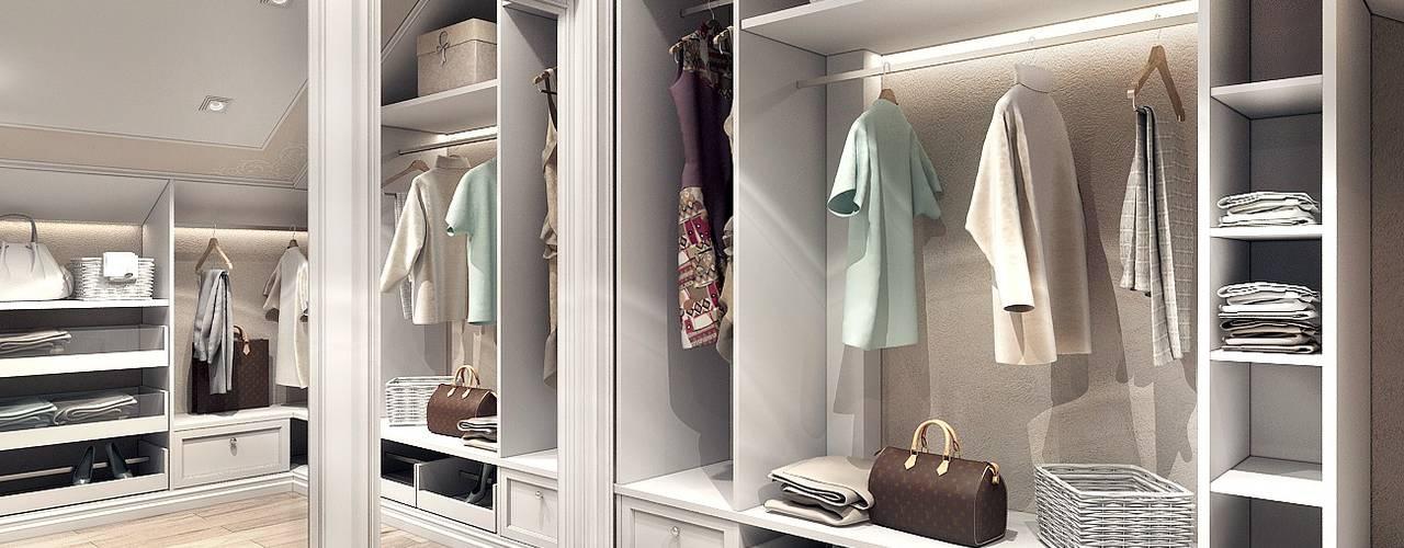 Projekty,  Garderoba zaprojektowane przez Компания архитекторов Латышевых 'Мечты сбываются'