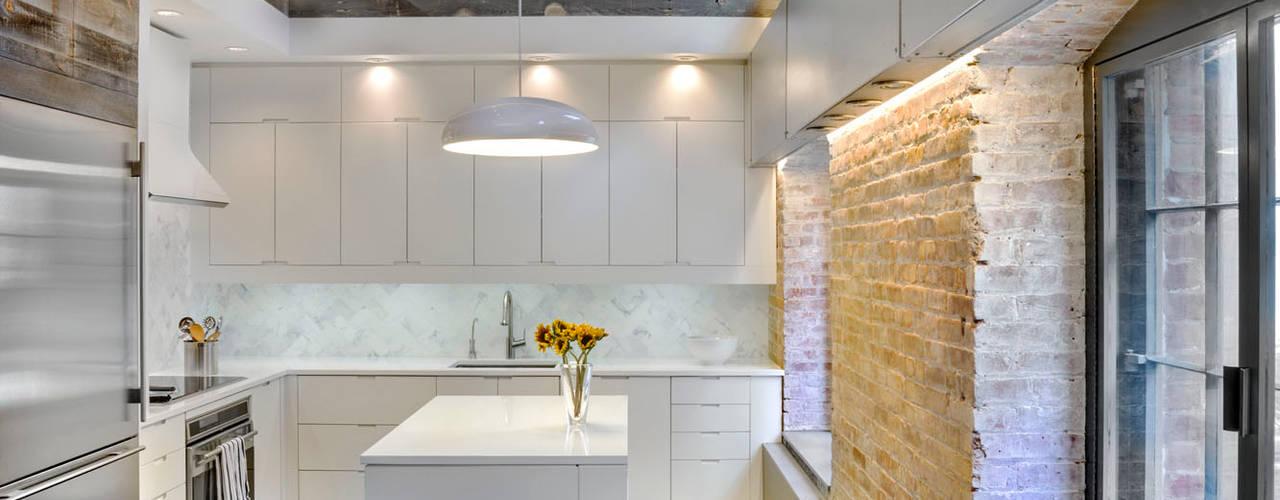 Laight Street Duplex:  Kitchen by Rodriguez Studio Architecture PC