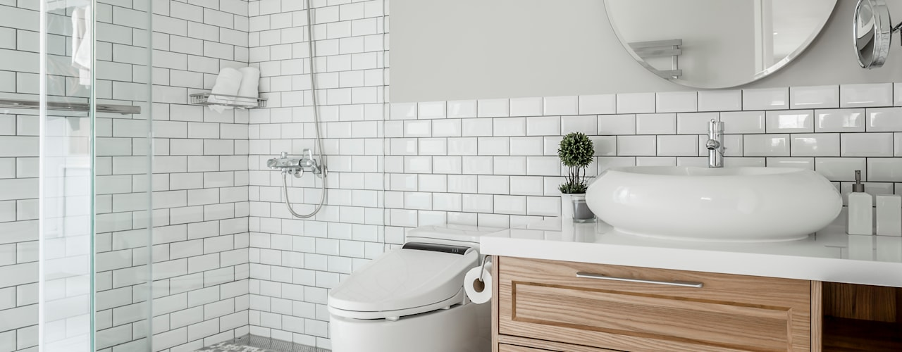 Scandinavian style bathroom by 潤澤明亮設計事務所 Scandinavian