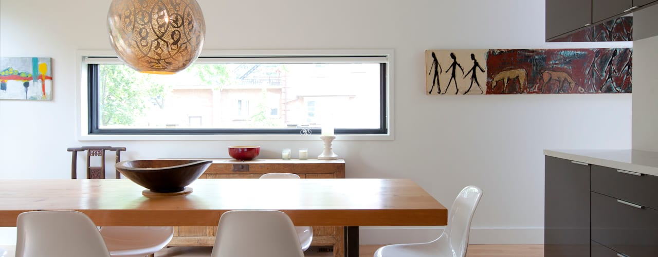 RIVERDALE BOWDEN HOUSE:  Dining room by Post Architecture