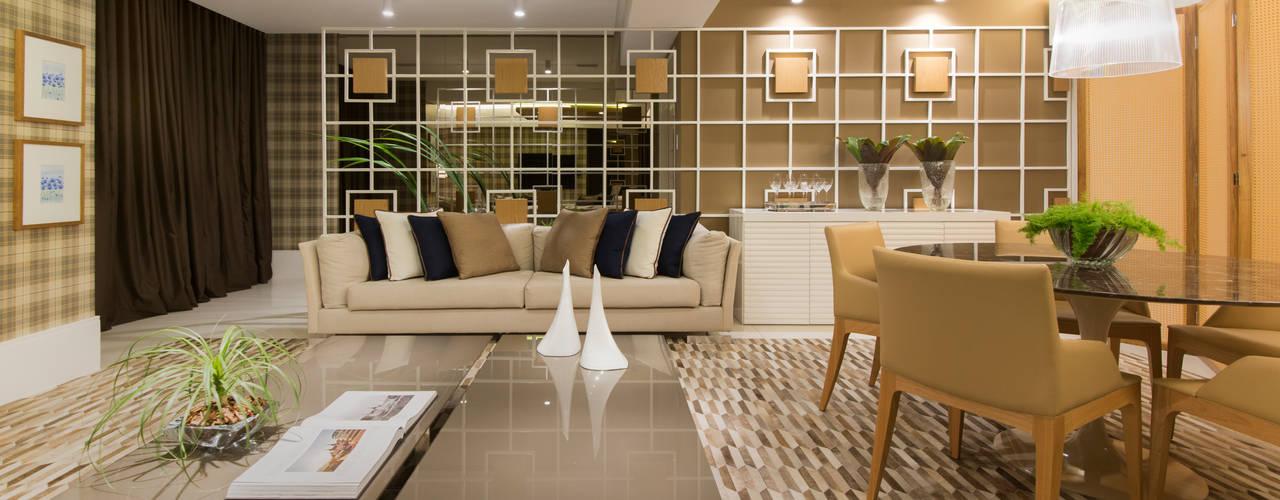 APTO. C & J Salas de estar modernas por Matheus Menezes Arquiteto Moderno