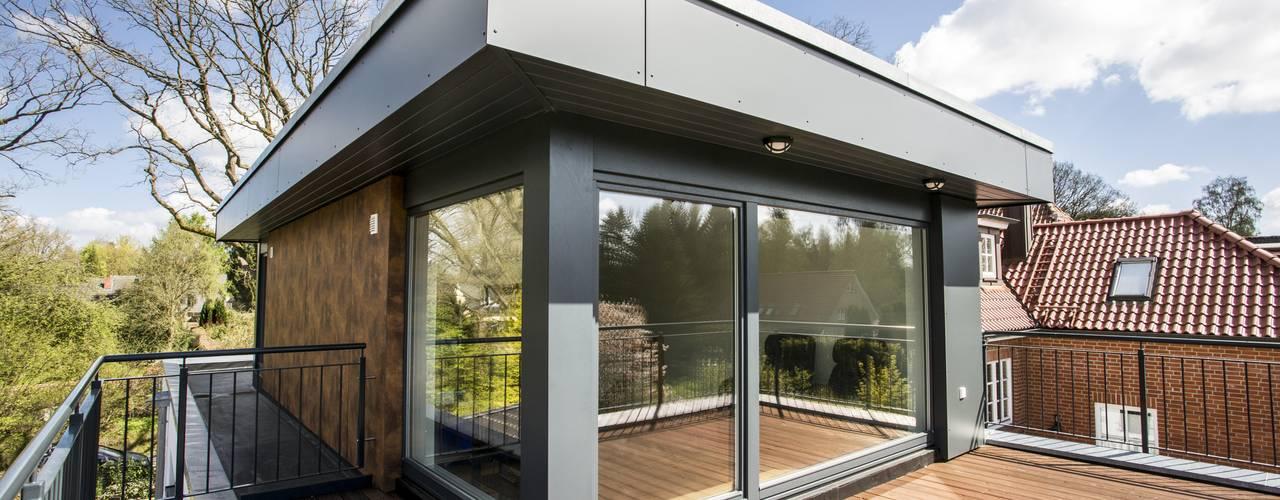 Projekty,  Taras zaprojektowane przez Architekturbüro Prell und Partner mbB Architekten und Stadtplaner