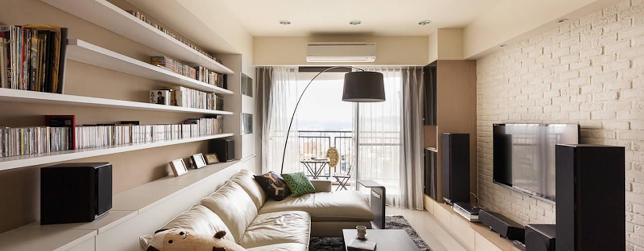 Scandinavian style living room by 思維空間設計 Scandinavian