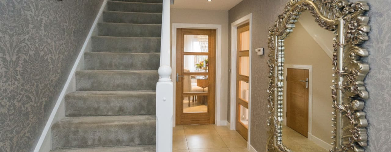 Take a step into luxury each day.. Modern corridor, hallway & stairs by Graeme Fuller Design Ltd Modern