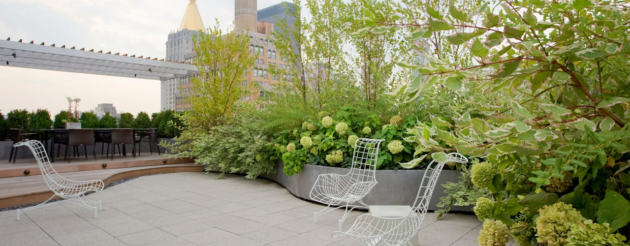 Empire State Loft Modern Terrace by Koko Architecture + Design Modern