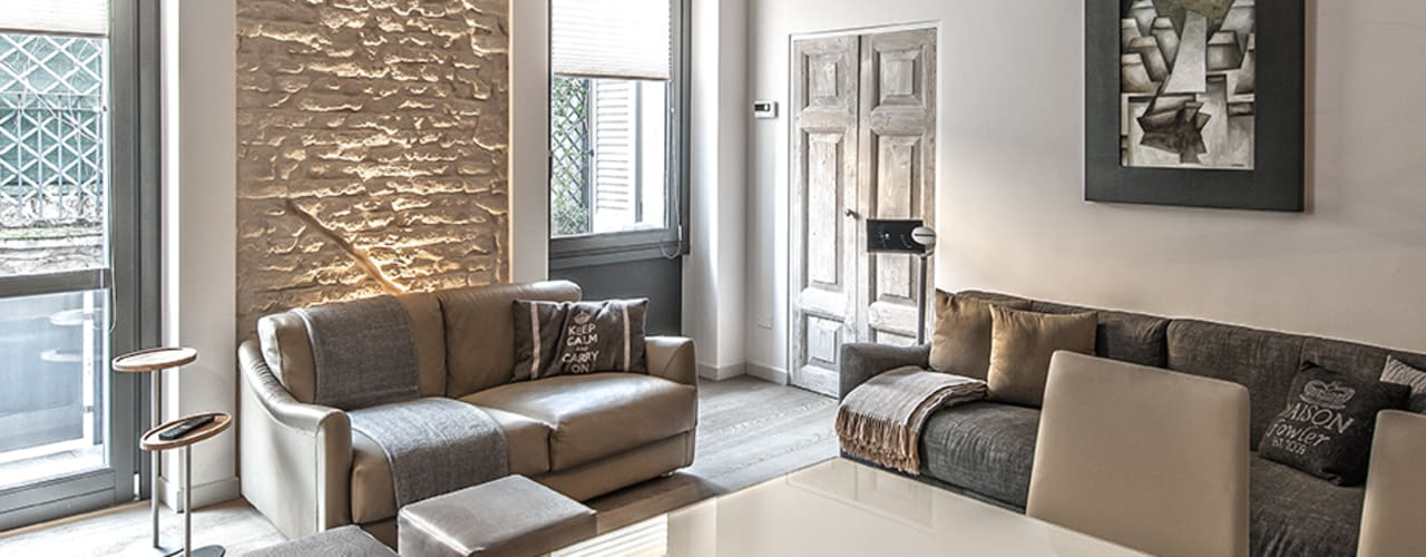 Salas / recibidores de estilo  por BRANDO concept,