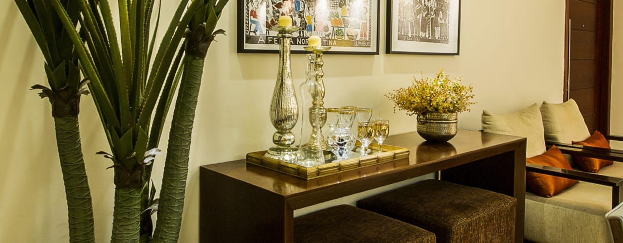 Salas de estilo  por Cris Nunes Arquiteta,