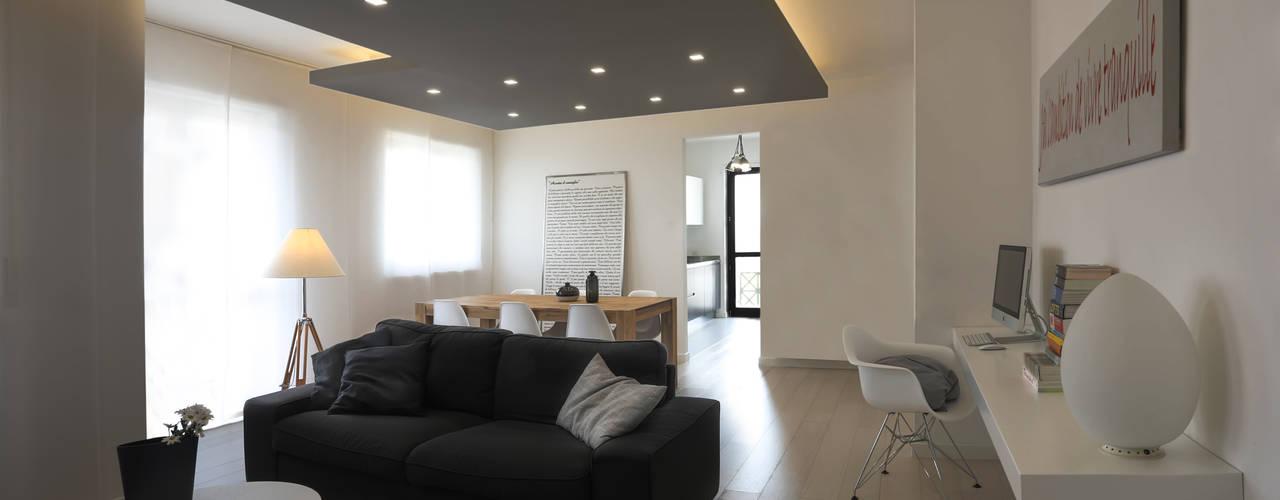 Salas de estilo minimalista por MAMESTUDIO