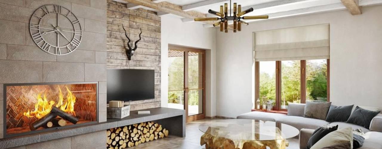 Une maison confortable, chic et rustique grâce au mélange blanc/bois