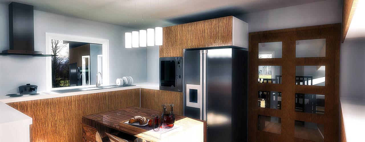 Nhà bếp theo NidoSur Arquitectos - Valdivia, Hiện đại