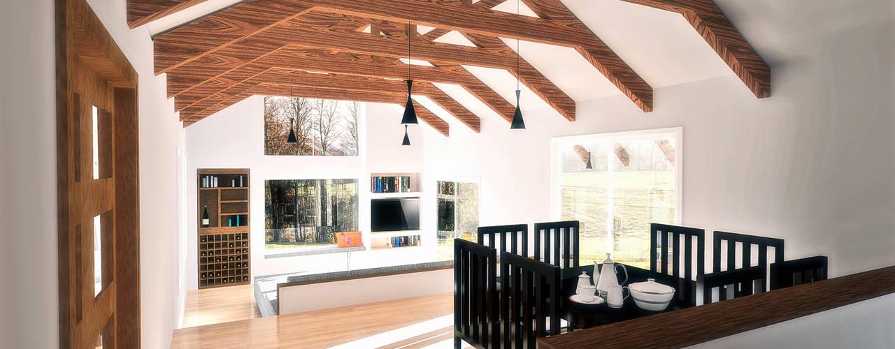 Diseño de Casa 3N en Valdivia por NidoSur Arquitectos Comedores de estilo moderno de NidoSur Arquitectos - Valdivia Moderno