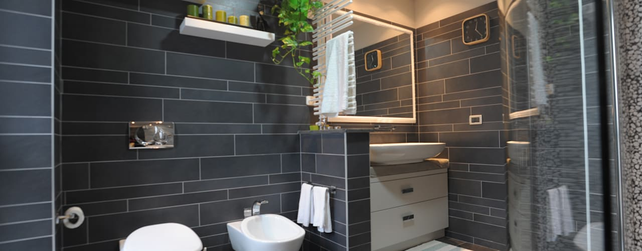 Industrial style bathroom by PROGETTO Bi Industrial