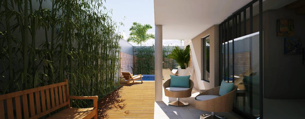 Balcones y terrazas de estilo moderno de Lozí - Projeto e Obra Moderno