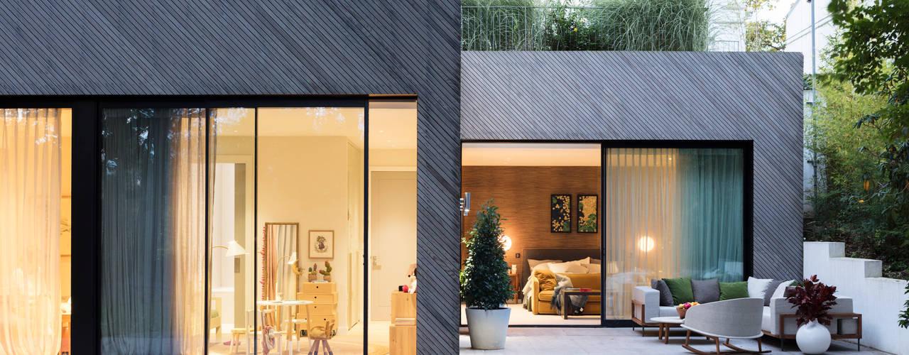 Modern New Home in Hampstead Black and Milk | Interior Design | London Balconies, verandas & terraces Furniture