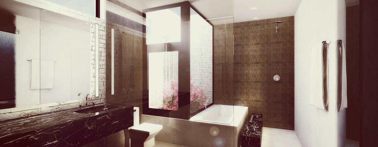 Projekty,  Łazienka zaprojektowane przez Estudio Volante