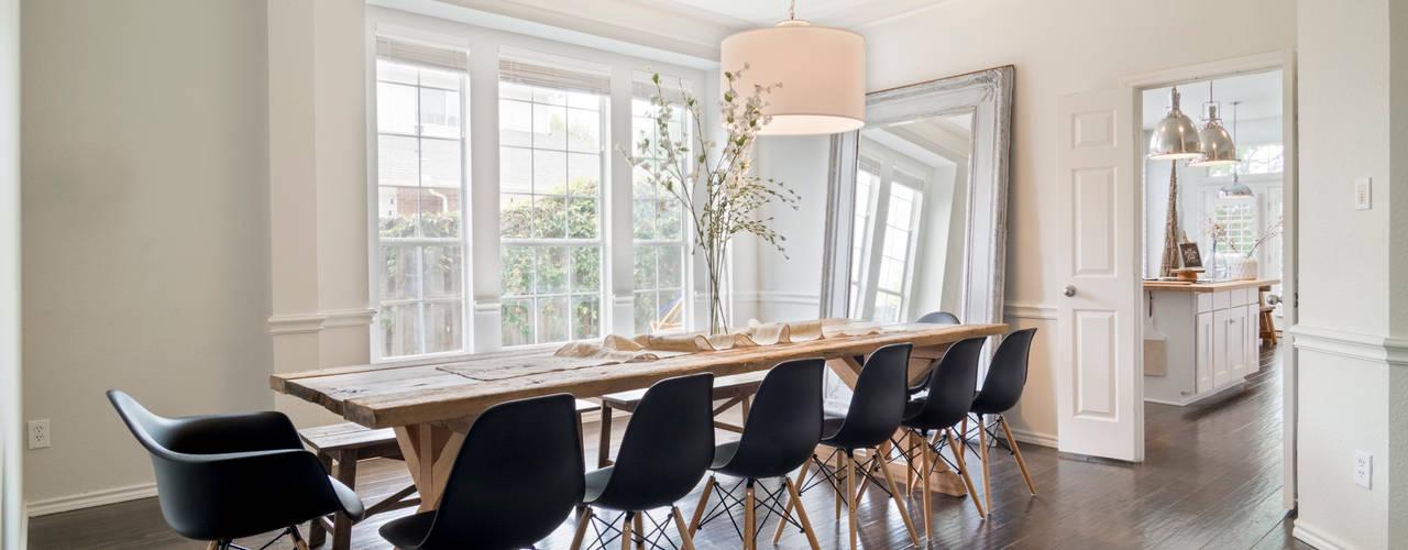 Urban Scandinavian Home:  Dining room by Urbanology Designs