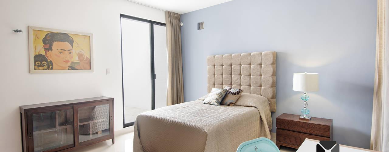 Chambre de style  par PORTO Arquitectura + Diseño de Interiores, Éclectique
