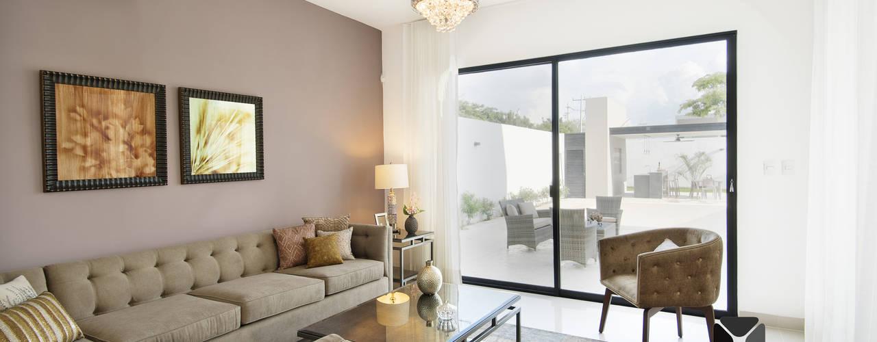 """""""PROYECTO LDZ26"""": Salas de estilo  por PORTO Arquitectura + Diseño de Interiores"""