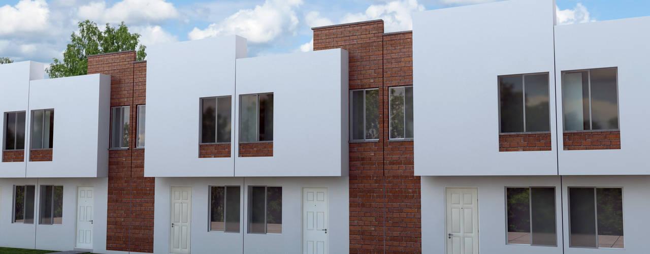 Vivienda de Interes Social...: Casas de estilo  por Perspectiva Arquitectos México