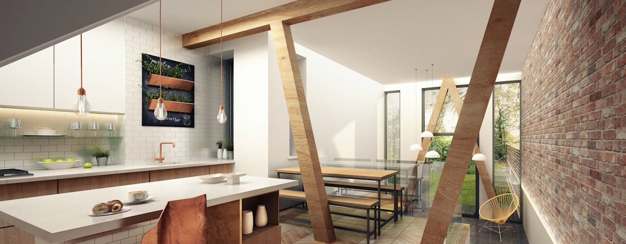 Passivhaus Retrofit  Manchester:  Kitchen by guy taylor associates, Modern