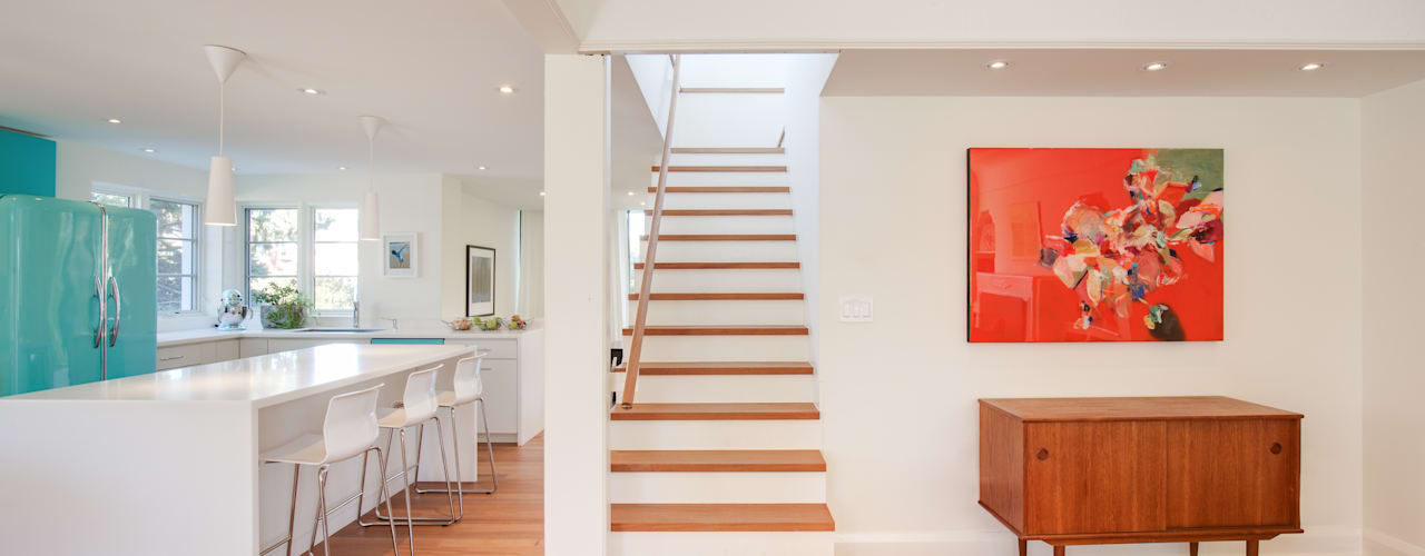 dpai architecture inc Modern Corridor, Hallway and Staircase