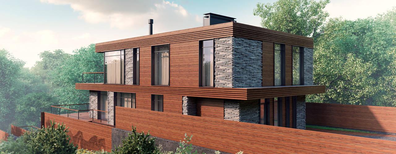 FLY house / Частный дом в МО на берегу водохранилища: Дома в . Автор – BOOS architects