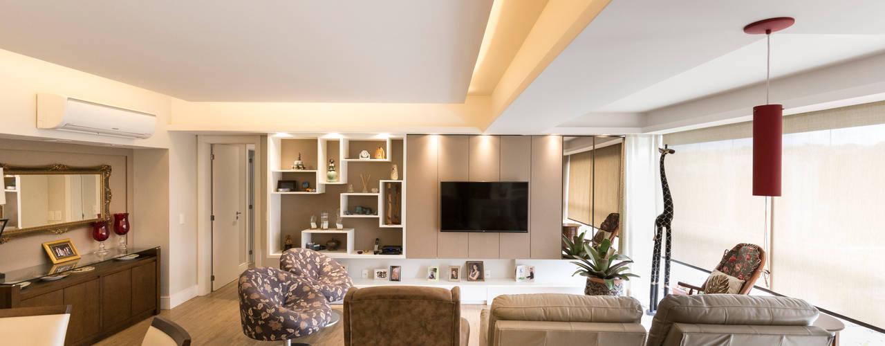 ECP | Estar e Lavabo Salas de estar minimalistas por Kali Arquitetura Minimalista
