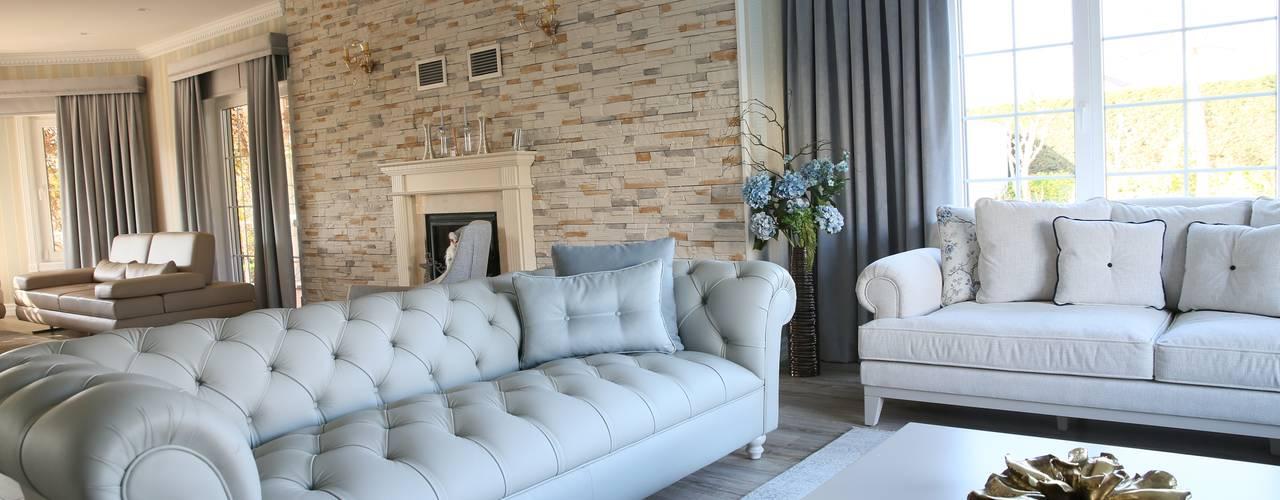 Salas de estilo  por Aykuthall Architectural Interiors