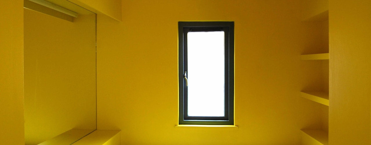All Weather House ROEWUarchitecture Modern Bathroom Wood-Plastic Composite Yellow