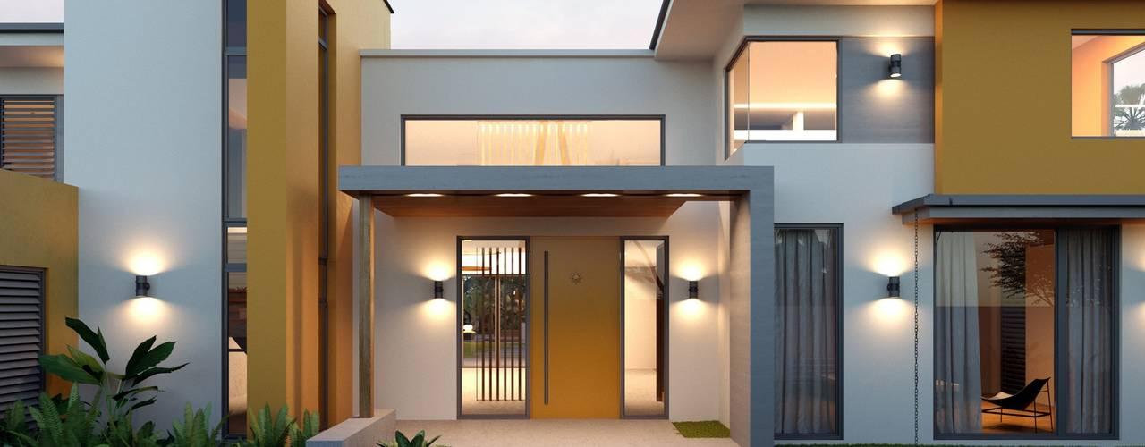Компания архитекторов Латышевых 'Мечты сбываются' Nhà phong cách Địa Trung Hải
