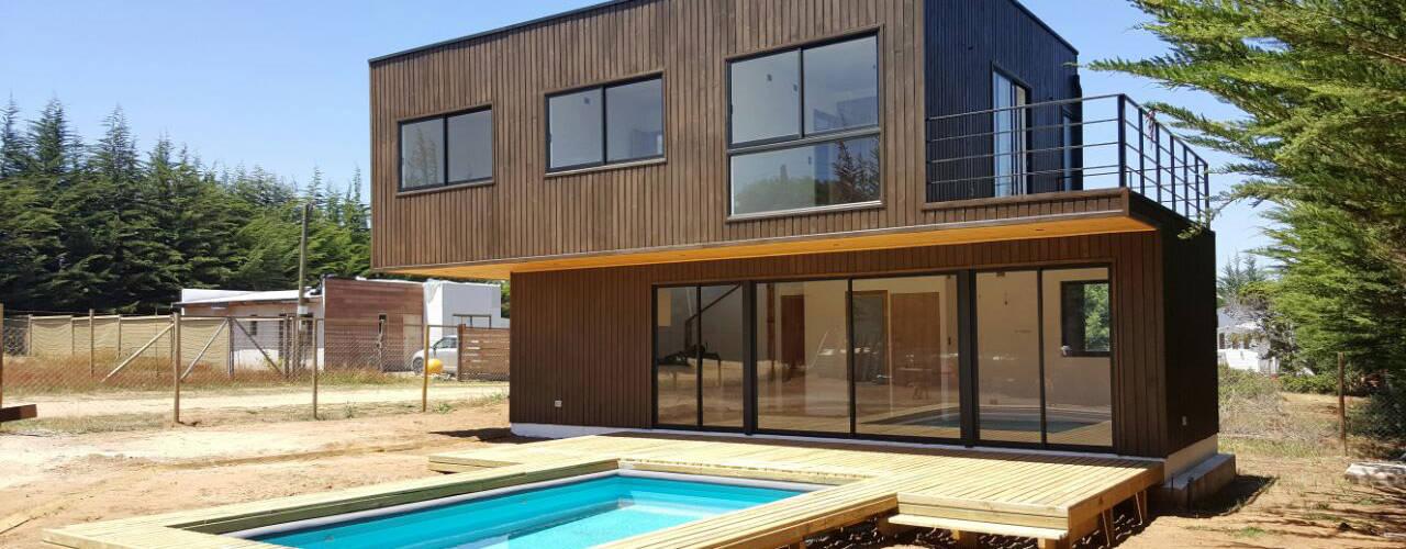 Fachada: Casas de estilo  por Lares Arquitectura