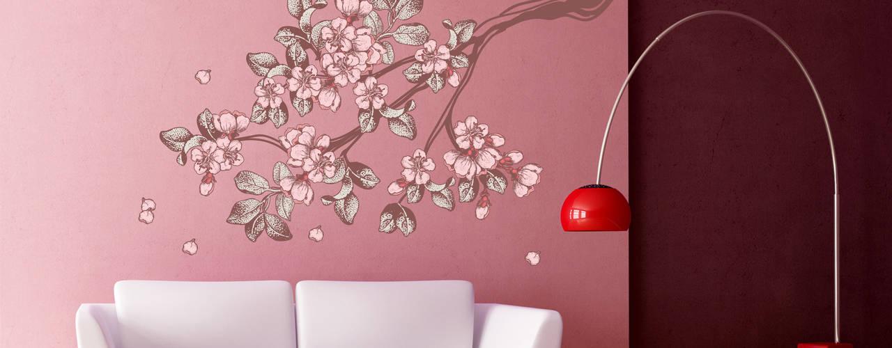 Wandtattoo Vintage Kirschblüten:   von K&L Wall Art