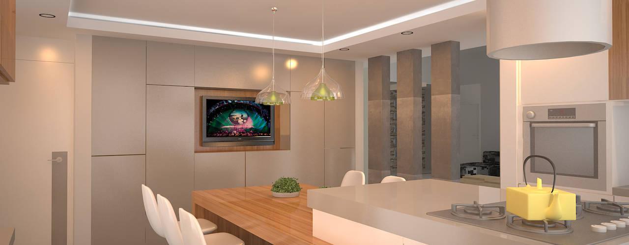 Vivienda RS - Cipolletti, Río Negro Cocinas modernas: Ideas, imágenes y decoración de ARKIZA Moderno