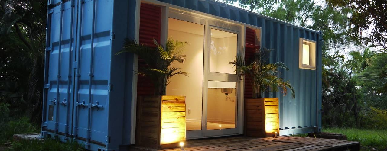 Fachada Casas ecléticas por Casa Container Marilia - Arquitetura em Container Eclético Metal