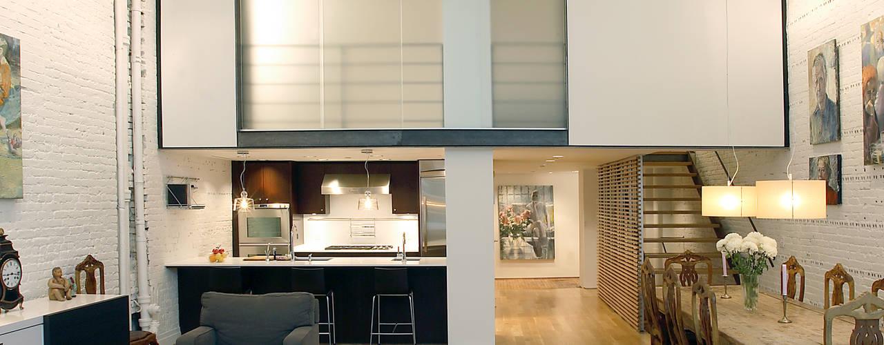 Peabody Loft and Studio:  Living room by SA-DA Architecture