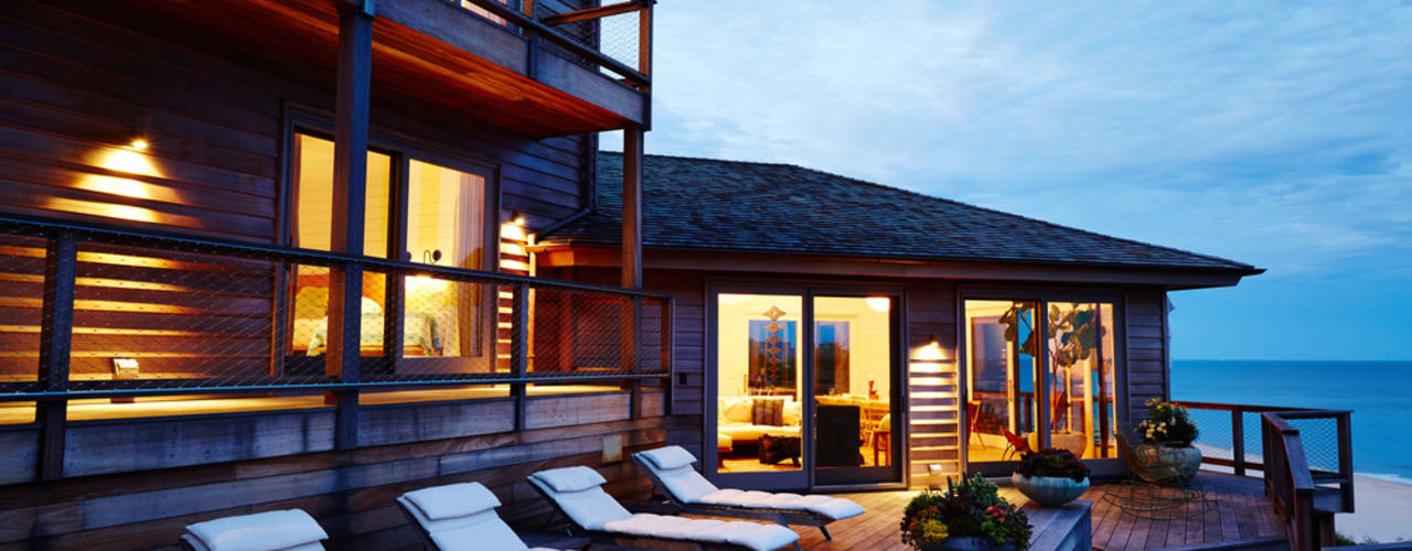 Old Montauk Highway House:  Patios & Decks by SA-DA Architecture