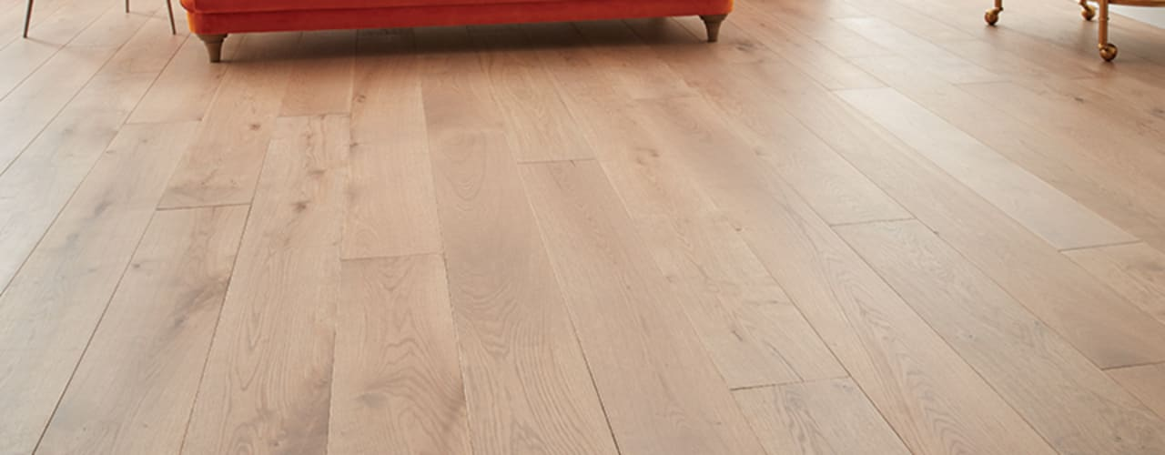 Engineered Wood Flooring Paredes e pisos modernos por Woodpecker Flooring Moderno