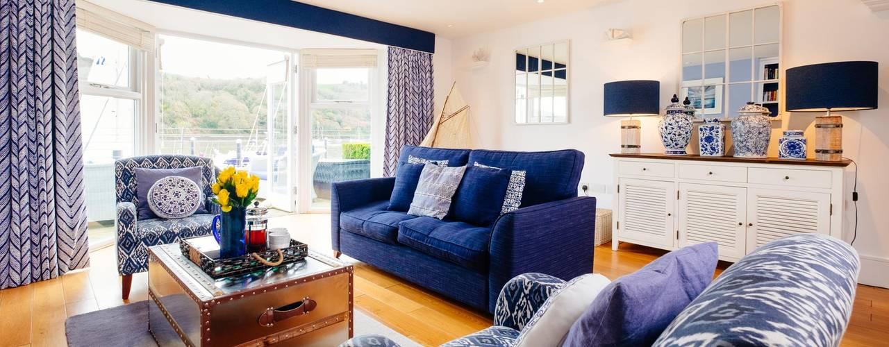 Blue Moorings, Dartmouth | Devon Salas de estilo ecléctico de Perfect Stays Ecléctico